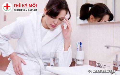 Ra khí  hư màu nâu khi mang thai
